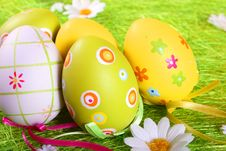 Free Pastel And Colored Easter Eggs Stock Images - 4107554