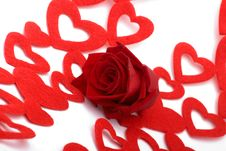 Free Rose And Hearts Royalty Free Stock Photos - 4107578