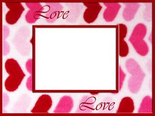 Fuzzy Love Hearts Frame Royalty Free Stock Images
