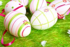 Free Pastel And Colored Easter Eggs Stock Photos - 4107593