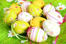 Free Pastel And Colored Easter Eggs Royalty Free Stock Photography - 4107637