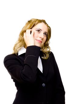 Free Businesswoman On The Phone Royalty Free Stock Photography - 4107677