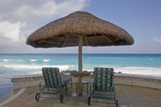 Free Chairs In Paradise Royalty Free Stock Images - 4107739