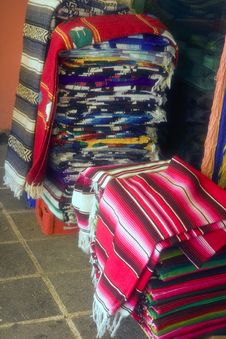 Free Stacks Of Mexican Blankets Stock Photos - 4107743