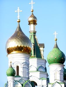 Free Church Domes Stock Image - 4108091