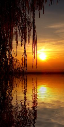 Free Sunset On The Lake Royalty Free Stock Photography - 4108697