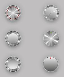 Free Metal Buttons Royalty Free Stock Photo - 41034755