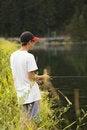 Free Boy Fishing Royalty Free Stock Image - 4119076