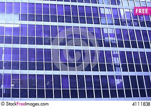 Free Blue Skyscraper Window Detail Royalty Free Stock Photos - 4111838