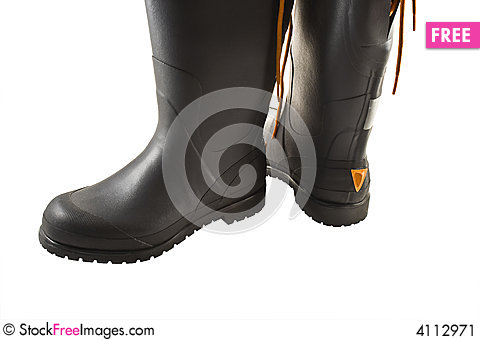Free Rubber Boots Stock Image - 4112971