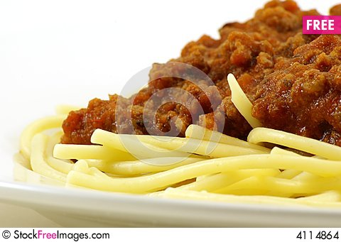 Free Spaghetti And Meat Sauce Stock Images - 4114864