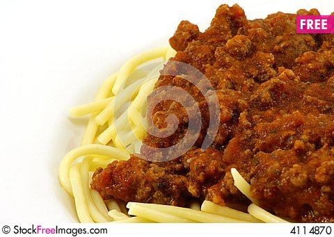Free Spaghetti And Meat Sauce Stock Photo - 4114870