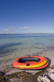 Free Pontoon Waintin On The Beach Stock Images - 4110194
