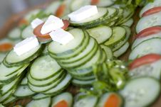 Free Snack From Cucumber Royalty Free Stock Photo - 4110455