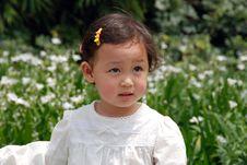 Free Beautiful Girl In White Royalty Free Stock Image - 4110836