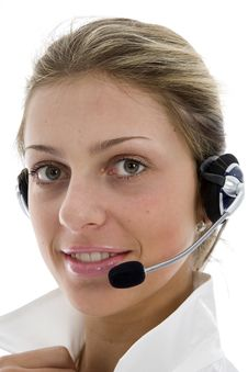 Free Business Woman Calling Stock Photo - 4110950