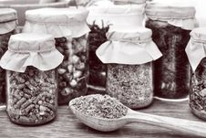 Herbal Tea In Glass Stock Image