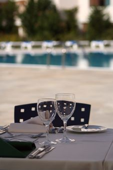 Free Lunch At The Pool Royalty Free Stock Photos - 4111598