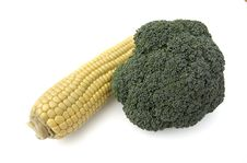 Free Broccoli And Corn Royalty Free Stock Photography - 4111607