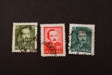 Free Very Old Polish Stamps Stock Photography - 4111992