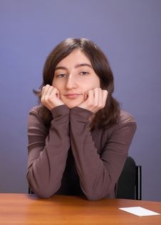 Free The Girl With A Mug Stock Image - 4112081