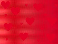 Free Red Background With Hearts Stock Photography - 4112152