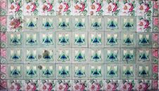 Free Heritage Floral Motive Tiles Royalty Free Stock Photo - 4112665