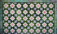 Free Heritage Floral Motive Tiles Royalty Free Stock Image - 4112696