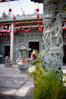 Stone Carving Chinese Temple Royalty Free Stock Image