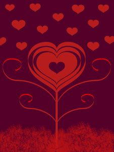 Free Love Flower Valentine Card Stock Images - 4114284