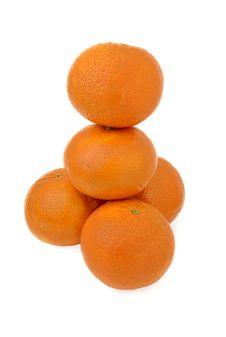 Free Stack Mandarins Stock Image - 4114421