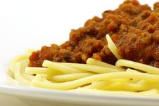 Spaghetti And Meat Sauce Stock Images