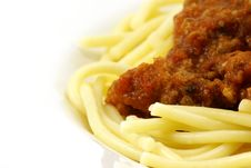 Free Spaghetti And Meat Sauce Stock Image - 4114941