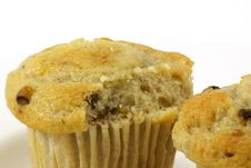 Free Banana Nut Muffins Stock Photo - 4115110