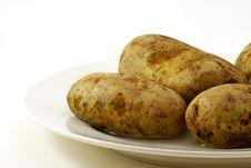 Free Raw Whole Potatos Stock Photo - 4115480