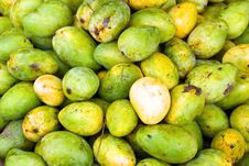 Free Green And Yellow Mangos Royalty Free Stock Images - 4116229