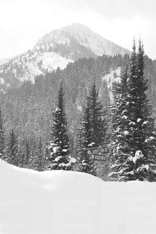 Free Snow Covered Mountain Road Stock Photos - 4116313