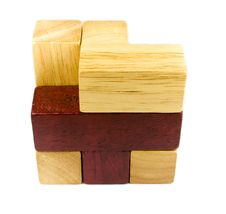 Free Wooden Puzzle Royalty Free Stock Image - 4116356