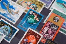 Free Used Old Postage Stamps From Russia Royalty Free Stock Images - 4116929