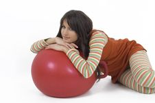 Free Girl With Training Ball Royalty Free Stock Image - 4117716