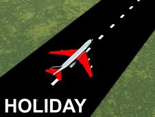 Free Plane With Runway Royalty Free Stock Photography - 4118017
