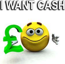 Free Happy Pound Guy I Want Cash Stock Photography - 4118082