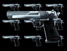 Free Lots Of Guns Stock Photography - 4118112