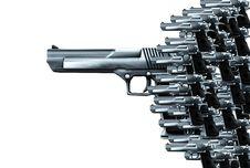 Free Lots Of Guns Royalty Free Stock Photos - 4118158