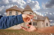 Free Handing Over The Keys Stock Image - 4118161
