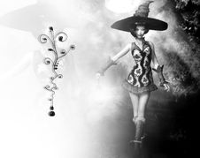Free Adorable Witch Royalty Free Stock Images - 4118189