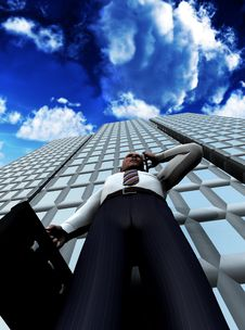 Free Business Man Standing In Front Of A Building 16 Stock Images - 4118274