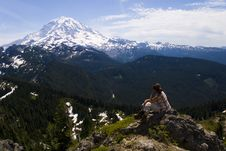 Free Rainier Hiking Stock Image - 4119391