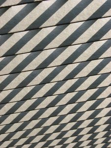 Shadows On Wooden Slats Stock Images
