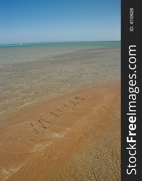 Message on the beach